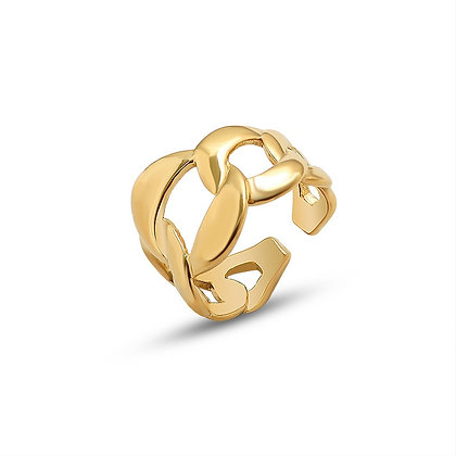 Thick Chain Ring - Gold
