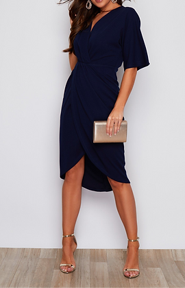 Girl In Mind Chelsea Wrap Detailing Midi Dress