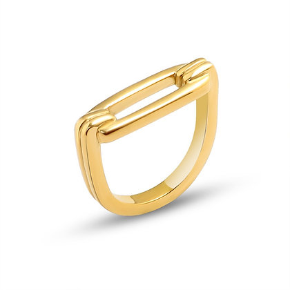 U-Shaped Ring - Gold or Silver