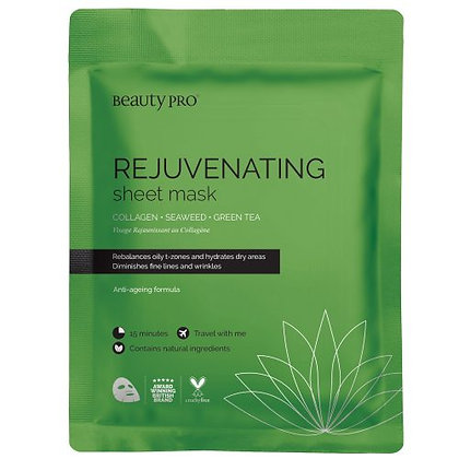 Beauty Pro Rejuvenating Collagen Sheet Mask with Green Tea extract