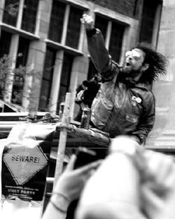 protest streetrave Suikerrui Antwerp