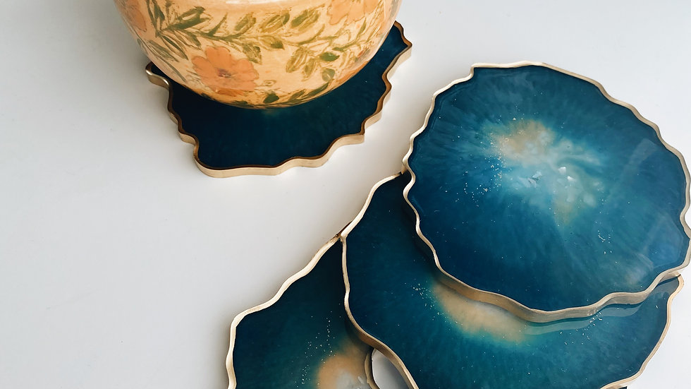 Water Blue Coasters