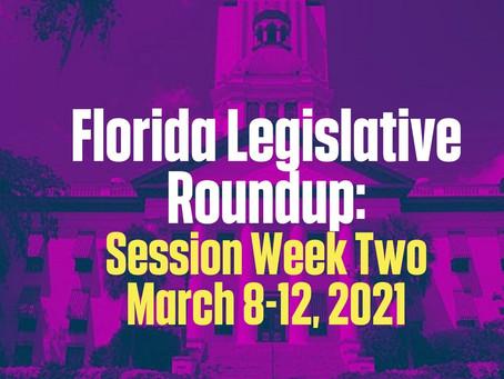 FL Legislative Roundup: Session Week Two 3/8 - 3/12