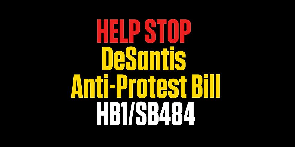 Testify or Waive Against HB1 - DeSanti's Anti-Protest Bill