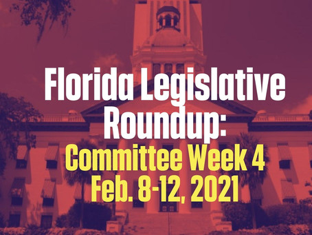 FL Legislative Roundup: Committee Week Four 2/8 - 2/12