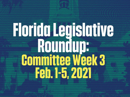 FL Legislative Roundup: Committee Week Three 2/1 - 2/5