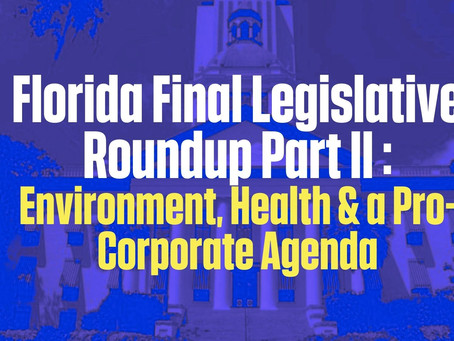 FL Final Leg Round Up Part II: Environment, Health & Pro-Corporate Liability Protections