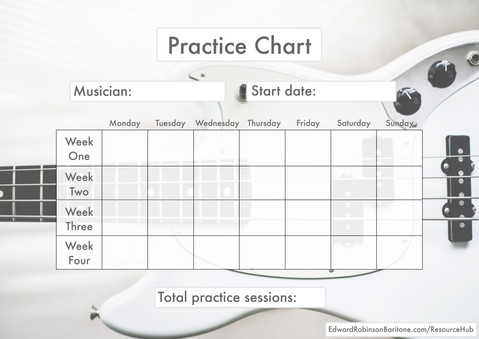 Download a Practice Chart to plan or track your progress!