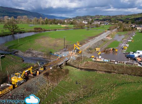 OffTheGround Provide Aerials for Emergency Rail Repairs in Llanrwst
