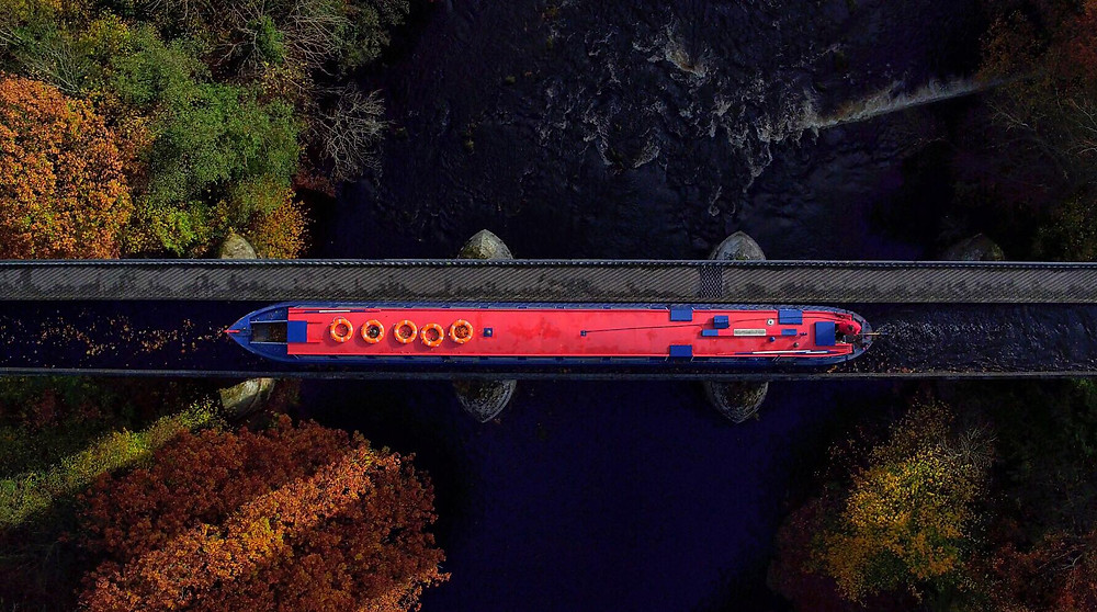 Pontcysyllte Aqueduct, Aerial Photography, Drone, North Wales