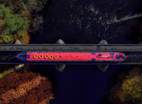 Canal Boat Crossing Pontcysyllte Aqueduct