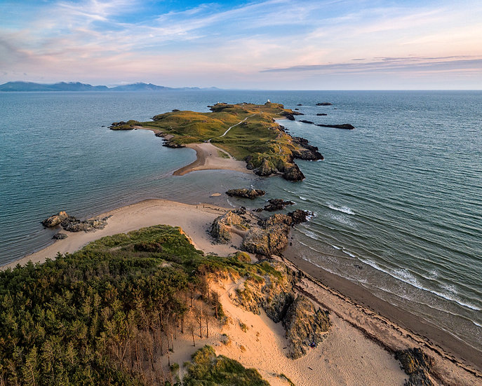 Evening Light Over Llanddwyn At High Tide