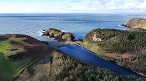 Ynys Y Fydlyn - Aerial Photography Wales