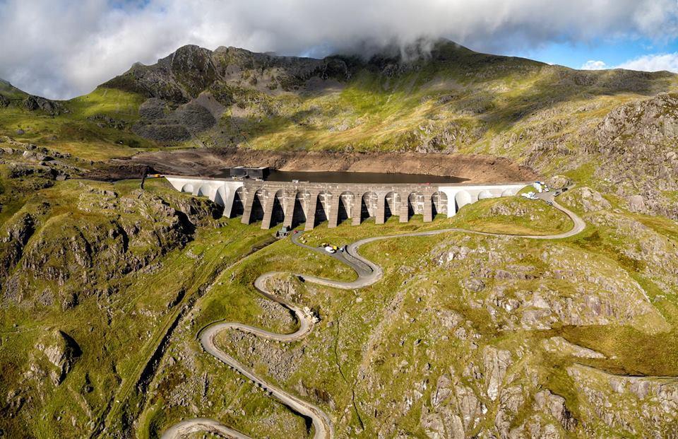 Stwlan Dam Blaenau Ffestiniog Snowdonia Drone Video Film Production Aerial Photography North Wales UAV