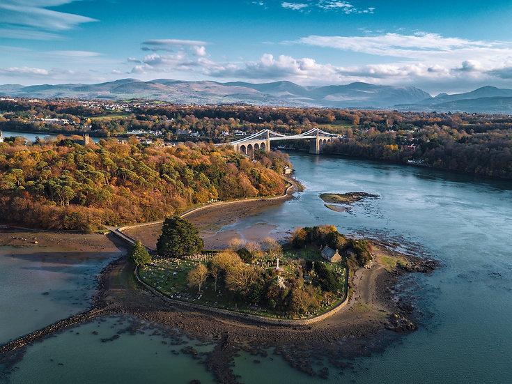 Church Island & the Menai Bridge in Autumn