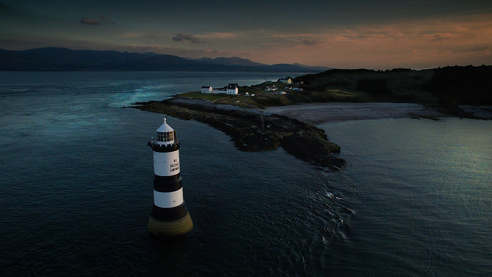 Penmon Lighthouse, Drone UAV Anglesey