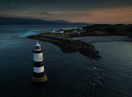 Penmon Lighthouse, Anglesey by drone