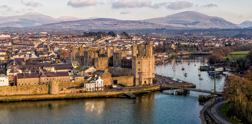 Evening light over Caernarfon Castle
