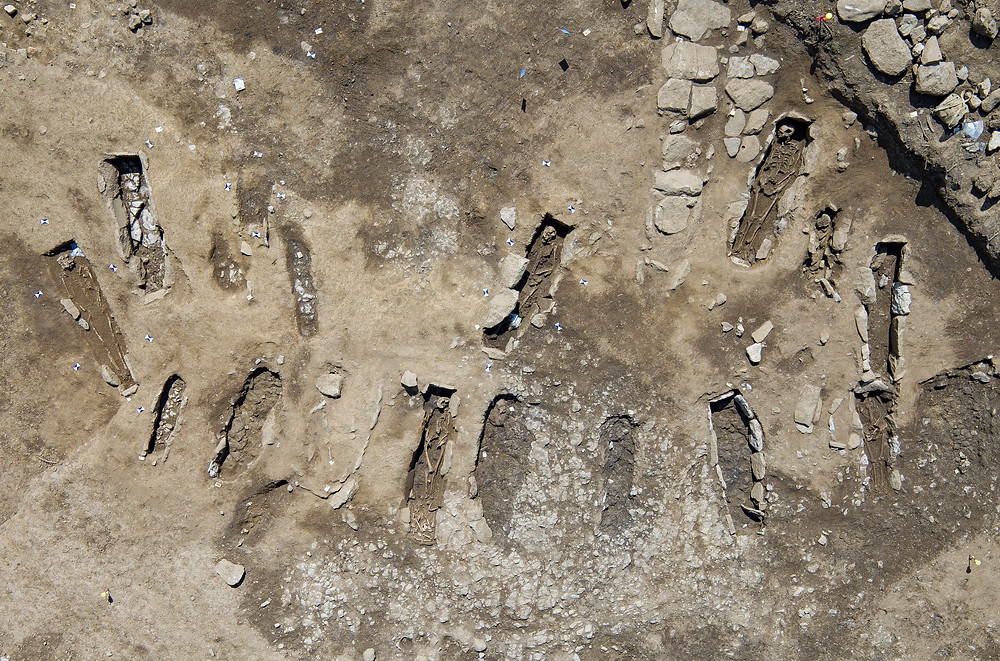 Llangefni Archaeology Site, Anglesey, Drone, UAV