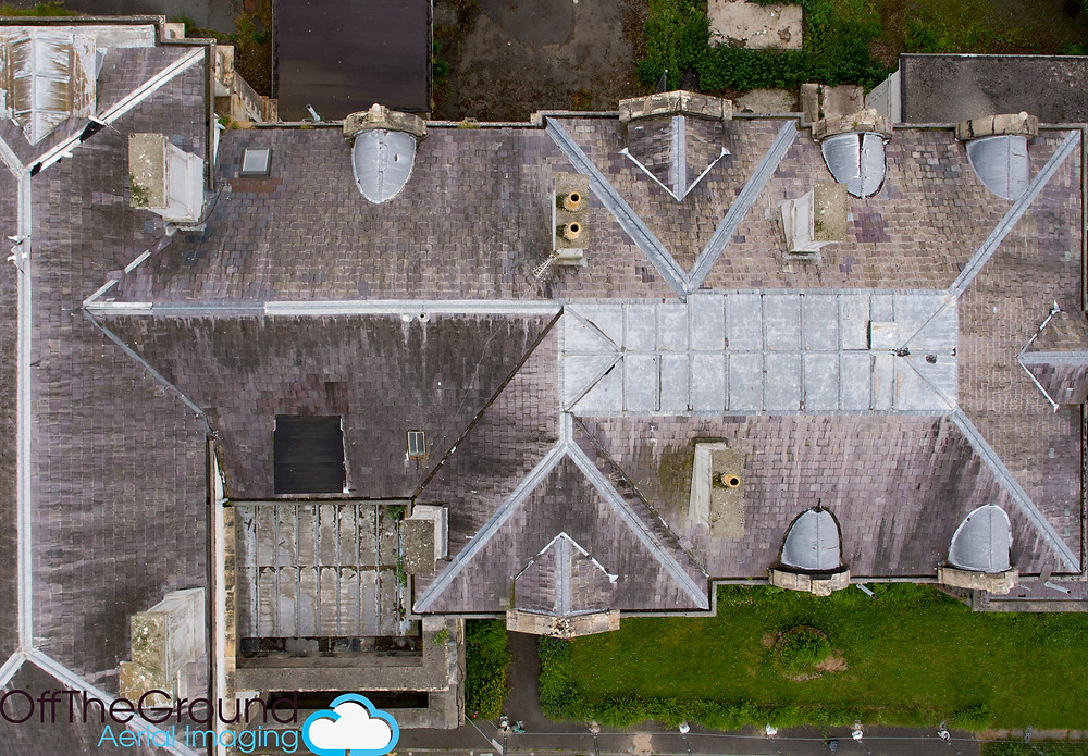 Aerial roof inspection, North Wales