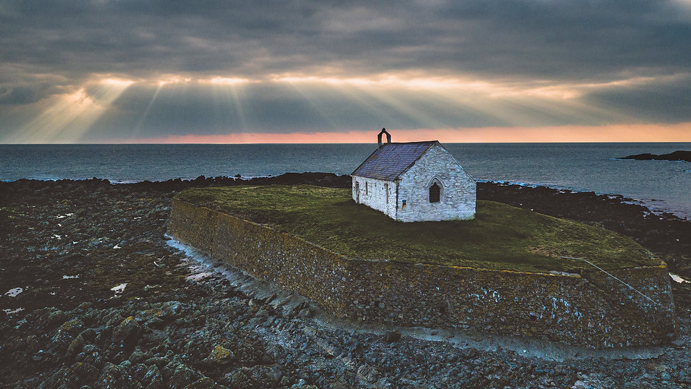 Sunset at Porth Cwyfan