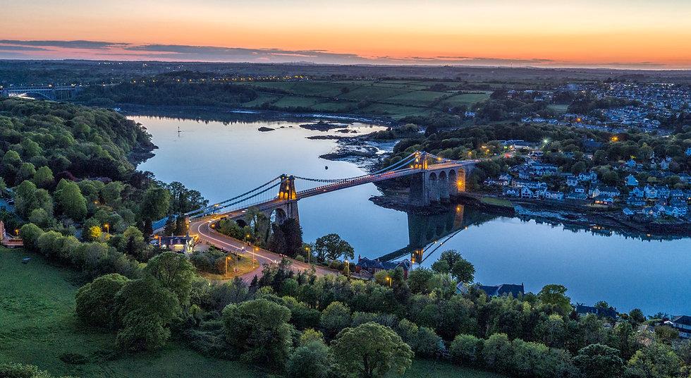 Menai Bridge At Dusk