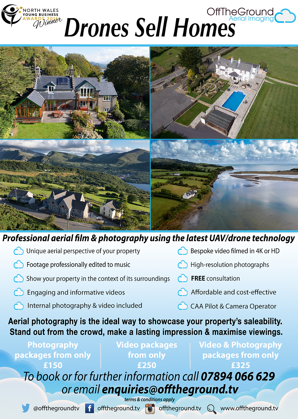 Drone Property Marketing Flyer