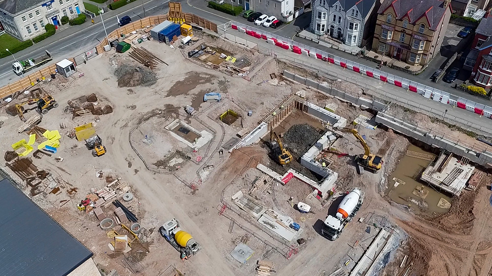 Photo from a recent job filming construction of Conwy Council's new HQ