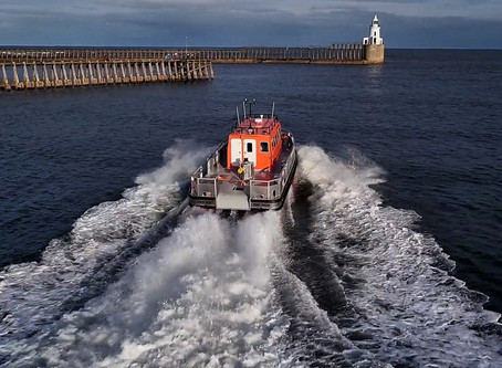 Our drones capturing Alnmaritec's Line Handling work boat in action at the Port Of Blyth