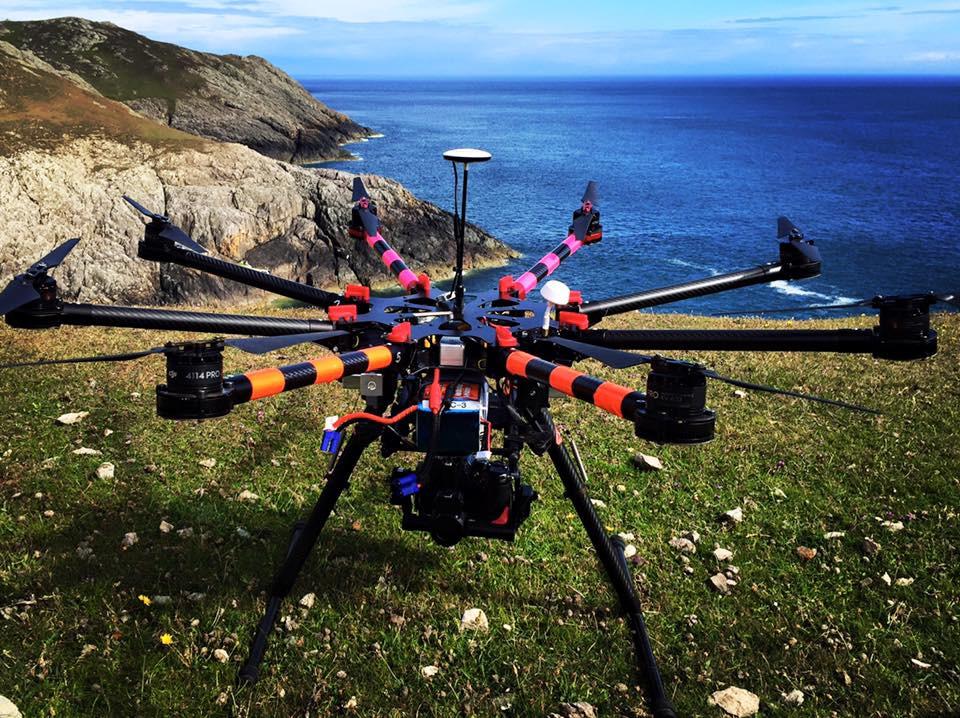 DJIS1000 Octocopter, Flying Spider, Drone, UAV