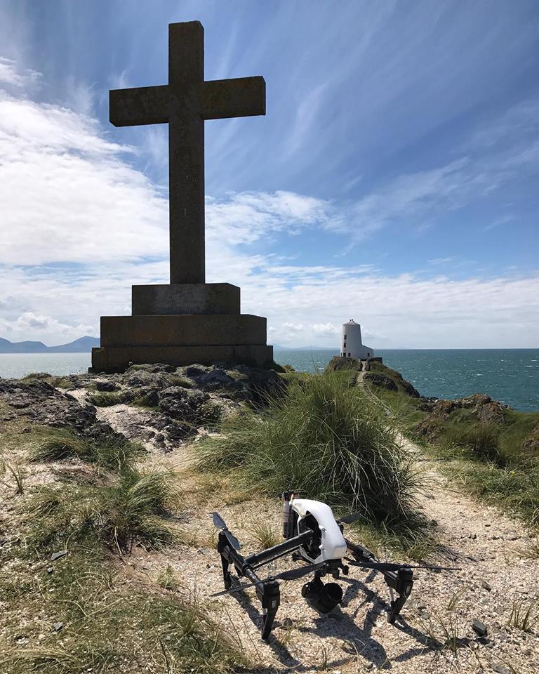DJI Inspire Drone Llanddwyn Island TV Production BBC Aerial Film and Photography Services North Wales