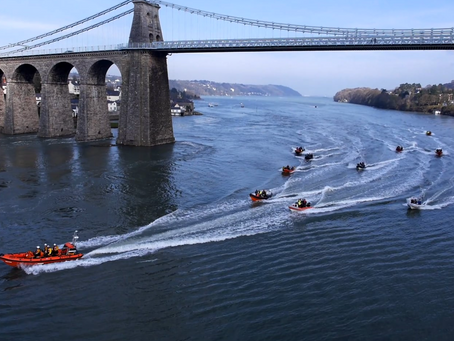 2016 Menai Boat Launch – East Chesire Sub Aqua Club & Beaumaris RNLI