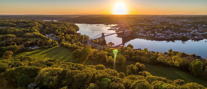 Menai & Britannia Bridge Sunset.jpg
