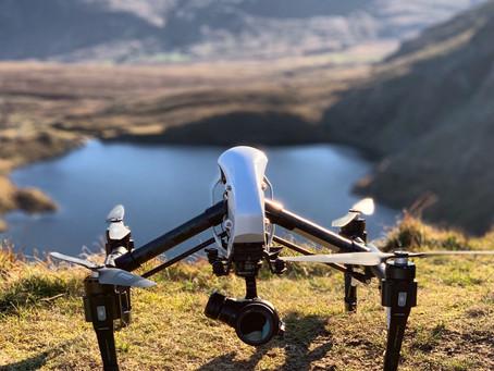 Carneddau Mountains, Snowdonia, Drone