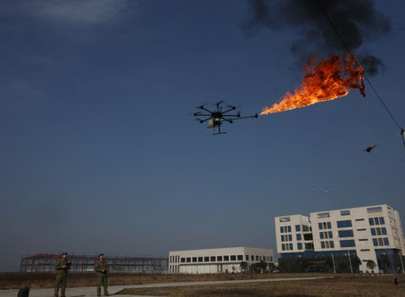 Power Company Sends Fire-Spewing Drone to Burn Trash Off High-Voltage Wires