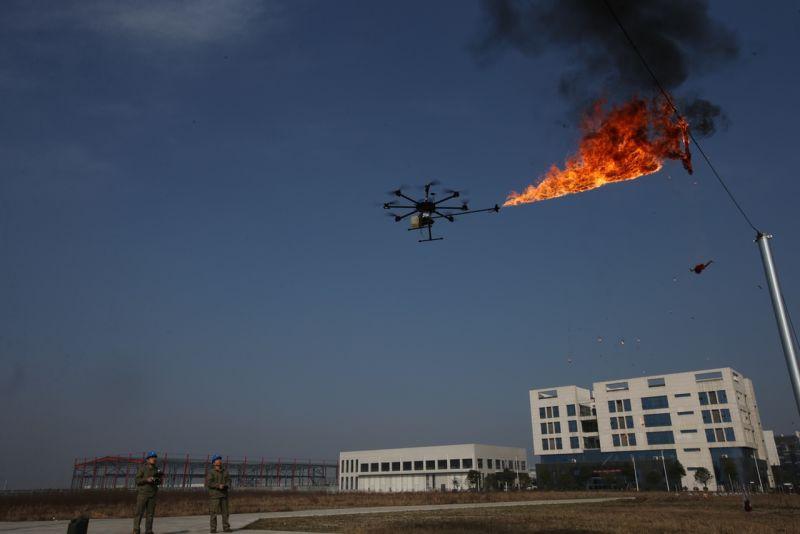 Fire-Drone-UAV-Aerial Work