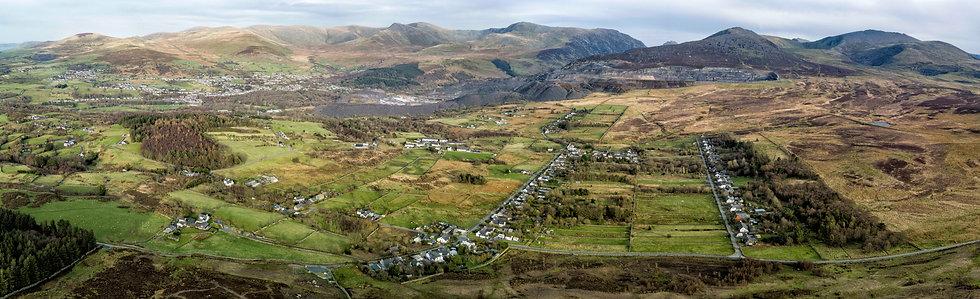Bethesda & Mynydd Llandegai from Moel Y Ci