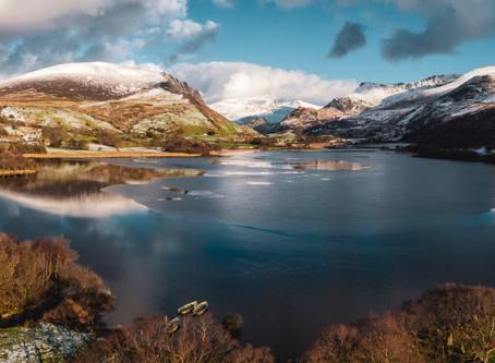 Nantlle Valley, Snowdonia, Gwynedd by drone