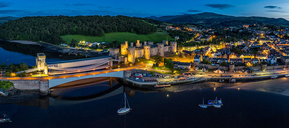 Conwy Castle At Twilight
