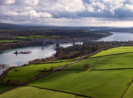 Britannia Bridge And The Menai Strait