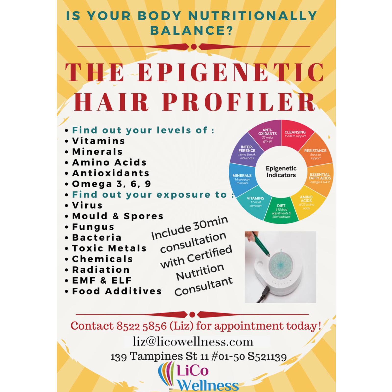 Epigenetic Hair Profiler Test & Analysis