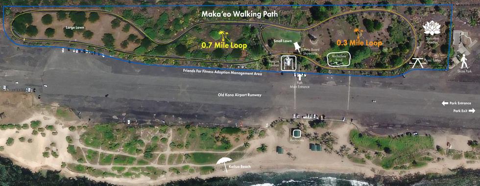 Maka'eo Walking Path Map