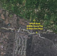 Walua Road Trail Map