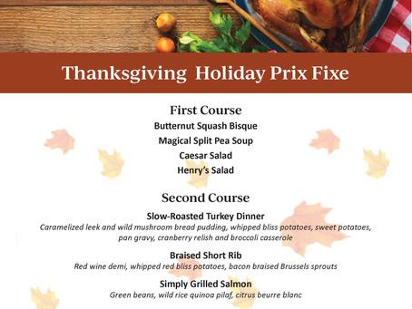 Thanksgiving Prix Fixe | Restaurant Delray Beach 2020