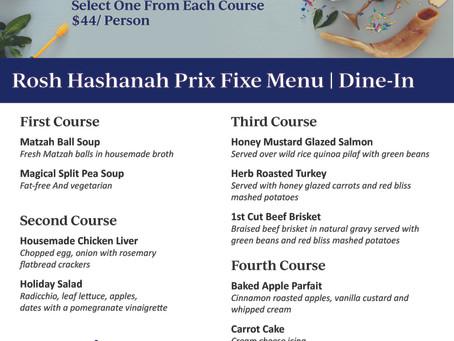 Rosh Hashanah Dine-In Prix Fixe | Delray Beach 2020