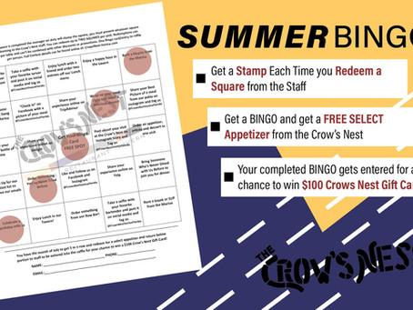 July Bingo at the Crow's Nest!