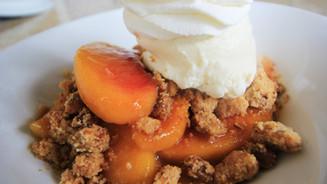 Peach Cobbler   Comfort Food Delray Beach