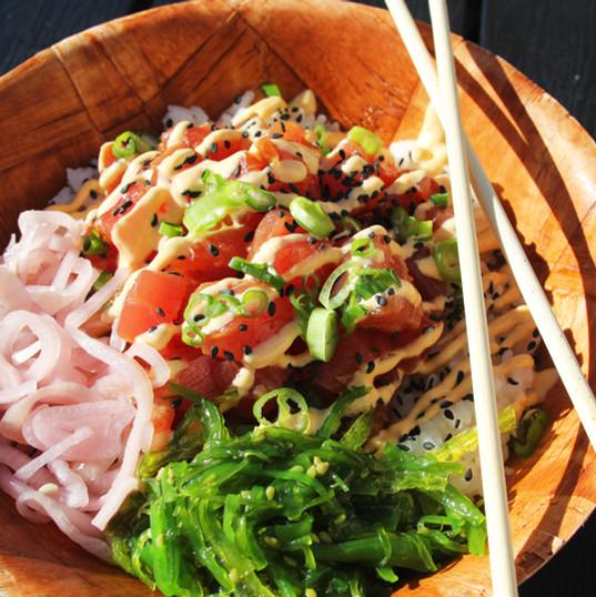 Spicy Tuna Bowl from Cool'a Fish Bar in Palm Beach Gardens