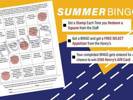 July Bingo at Henry's!