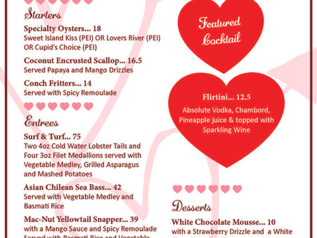 Valentine's Day at the Crow's Nest | Restaurant Venice, FL | Feb 2021